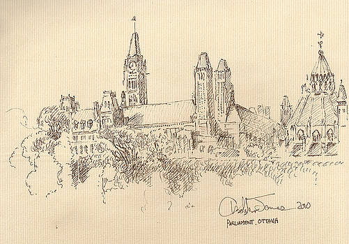 Ottawa Parliament by Christopher James