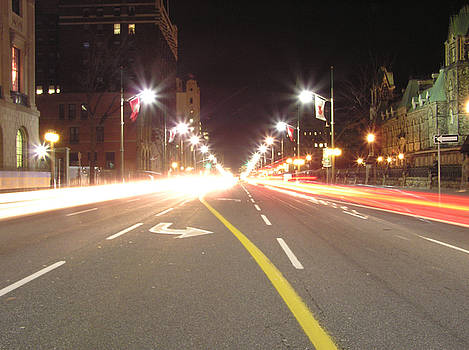 Ottawa Street at Night by Richard Mitchell