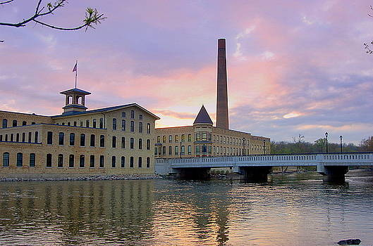 Otto Engineering Buildings on the Fox River  by Peggy Poupon