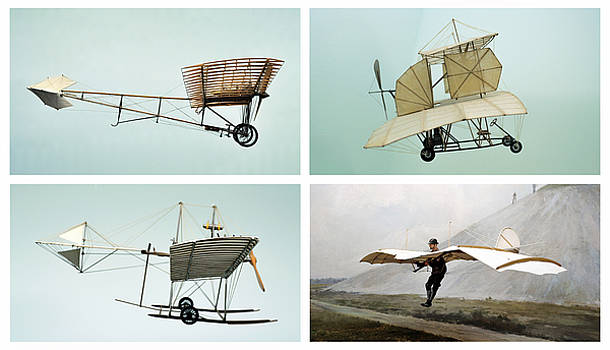 Otto Lillienthal and planes by Adrian Hancu