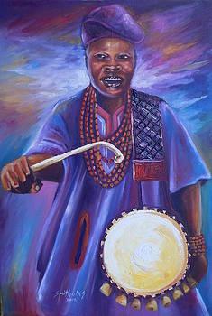 Otun Onilu Alaafin Oyo Drummer by Olaoluwa Smith