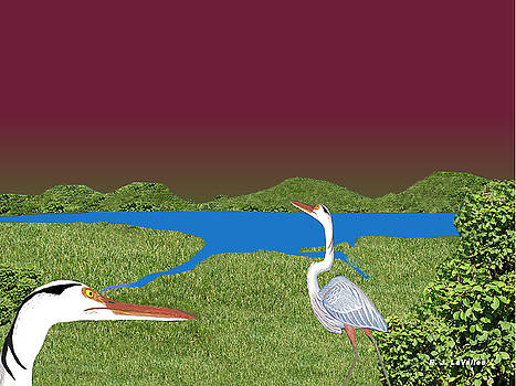 Our blue herons by Roland LaVallee