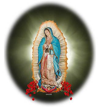 Our Lady of Guadalupe Sunburst by Yolanda Bello