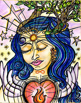 Our Lady of Self Blessing by Camille Roman