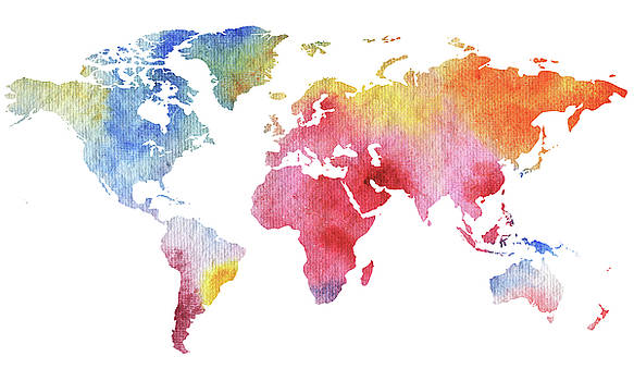 Our Watercolor Full World by Irina Sztukowski