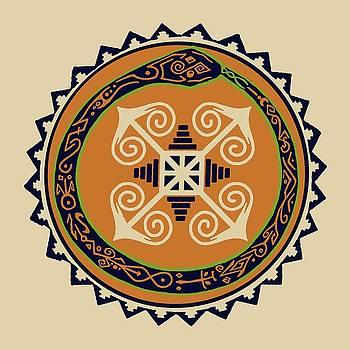 Ouroboros with Devine Fire Wheel by Vagabond Folk Art - Virginia Vivier