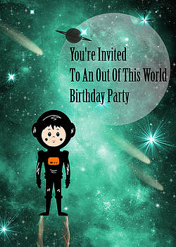 Out of This World Birthday Party Invitation by Rosalie Scanlon