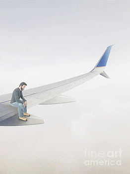 Out On A Wing Surreal by Edward Fielding