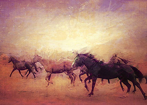 Out to Pasture Sun Valley Stables by Amy G Taylor
