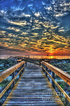 Walkway To The Sea Tybee Island Georgia Sunrise Seascape Art by Reid Callaway