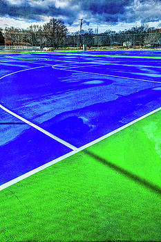 Outdoor Basketball Court 1 in Blue and Green by YoPedro