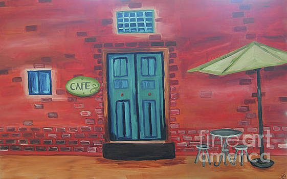 Outdoor Cafe by Beth Erickson