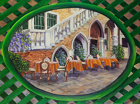 Charlotte Blanchard - Outdoor Cafe In Venice