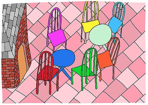 Outdoor cafe by Nicholas Brockbank