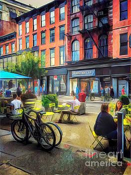 Outdoor Cafe - Summer in New York by Miriam Danar
