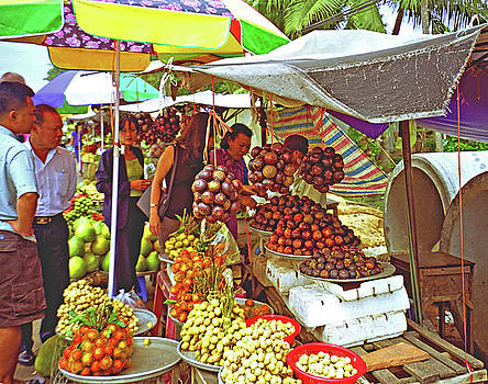 Outdoor Market Hwy 7 NW Of Ho Chi Minh City by Rich Walter