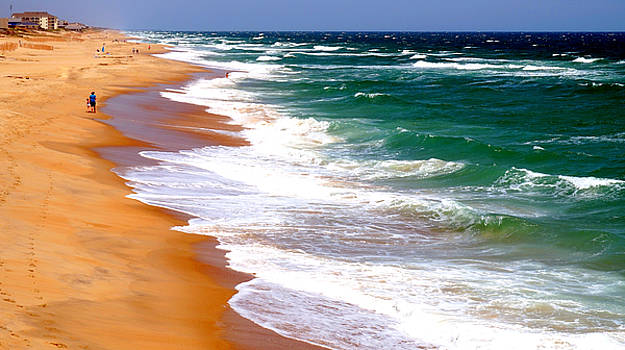 Outer Banks Beach North Carolina by Katy Hawk