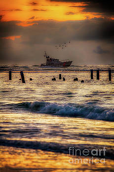 Dan Carmichael - Outer Banks Fishing Boat at Sunrise