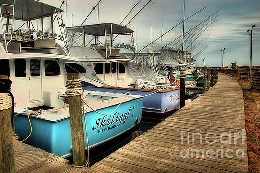 Dan Carmichael - Outer Banks Fishing Boats Waiting