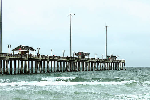 Outer Banks Fishing Pier by Carolyn Ricks