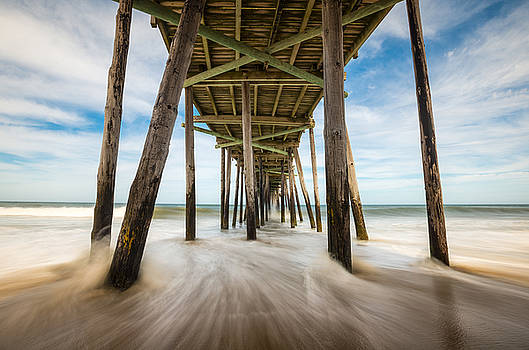 Outer Banks NC Nags Head Fishing Pier OBX by Dave Allen