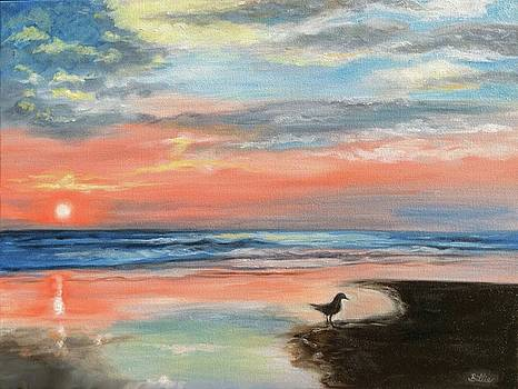 Outer Banks Sunrise with Friend by Billie Mann