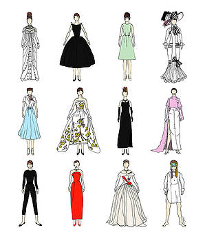 Outfits of Audrey Fashion by Notsniw Art