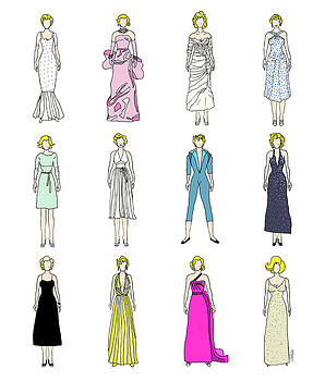 Outfits of Marilyn Fashion by Notsniw Art