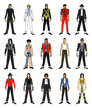 Outfits of Michael Jackson by Notsniw Art
