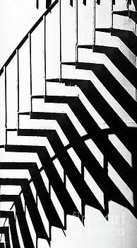 Sharon Williams Eng - Outside Cape Cod Staircase Abstract Black and White