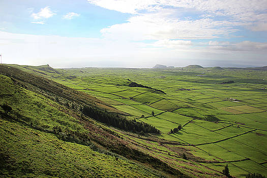 Over the Rim on Terceira Island, The Azores by Kelly Hazel