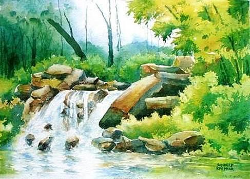 Over the Rocks by Sandeep Khedkar