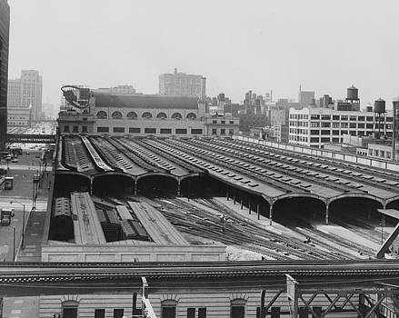 Chicago and North Western Historical Society - Train Sheds at Chicago Passenger Terminal - 1961