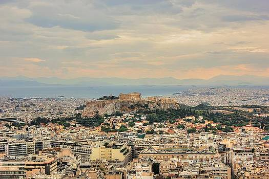 Overlooking Athens by Vicki Spindler