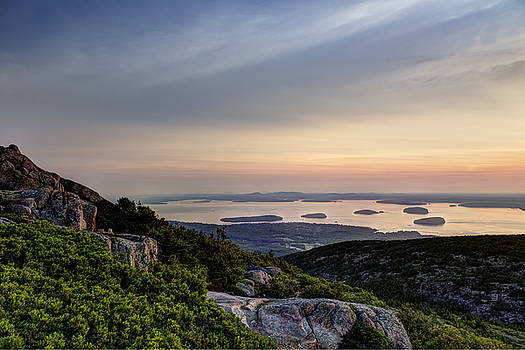 Overlooking Bar Harbor by Gary Smith