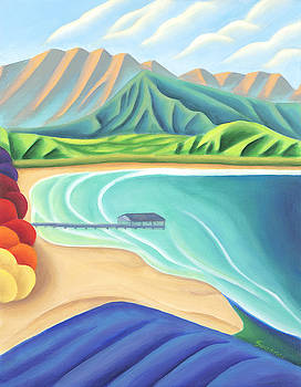Overlooking Hanalei Bay by Lynn Soehner