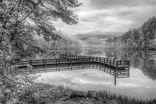 Debra and Dave Vanderlaan - Overlooking the Beauty of the Lake in Black and White