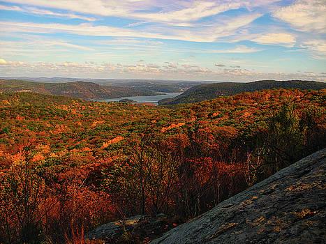 Overlooking the Hudson River in Fall by Raymond Salani III