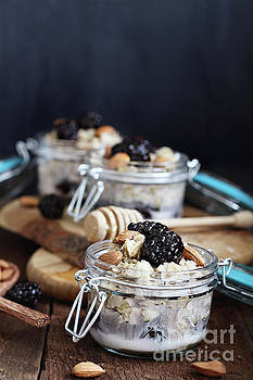 Overnight Oatmeal with blackberries  by Stephanie Frey