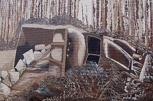 Overturned Truck Street Art by Robert Braley