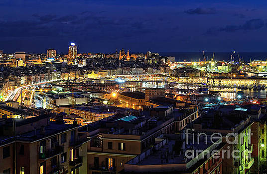 overview of Genoa at evening by Antonio Scarpi