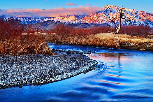 Owens River and Eastern Sierra Sunrise by Nolan Nitschke