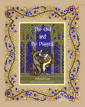 Owl Cat Book cover by Donna Huntriss