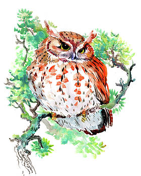Owl Children art, illustration Owl lover by Suren Nersisyan