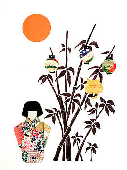 Owl In Bamboo by Mary Ellen Palmeri by Lyric Artists