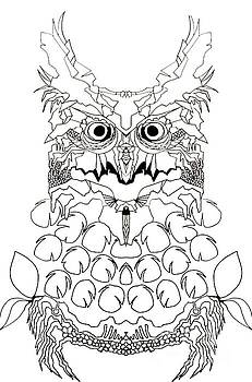Owl Sketch 2 by Amy Sorrell