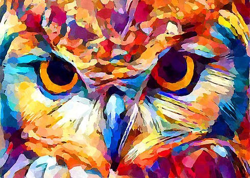Owl Watercolor 2 by Chris Butler