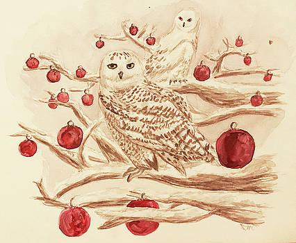 Owls and Ornaments by Sabina Mollot