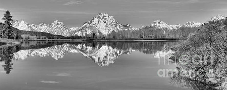 Adam Jewell - Oxbow Bend Panorama Black And White