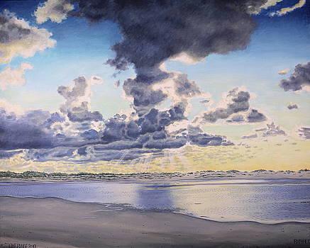 Oye Plage, sky study.  by Raphael Seygnovert